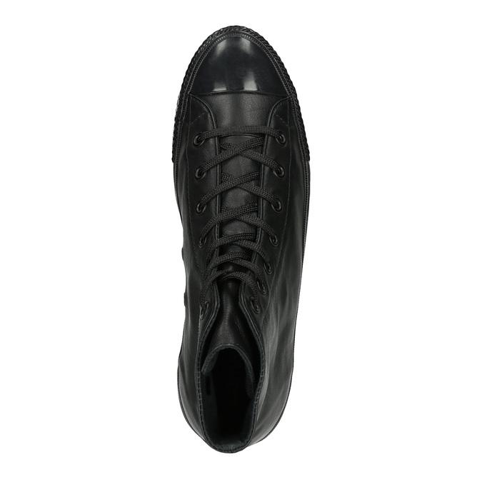 Kožené kotníčkové tenisky černé converse, černá, 546-6082 - 19