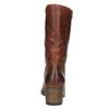 Kožené kozačky ve Western stylu bata, hnědá, 696-3607 - 17