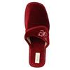 Dámská domácí obuv na klínovém podpatku bata, červená, 679-5607 - 19