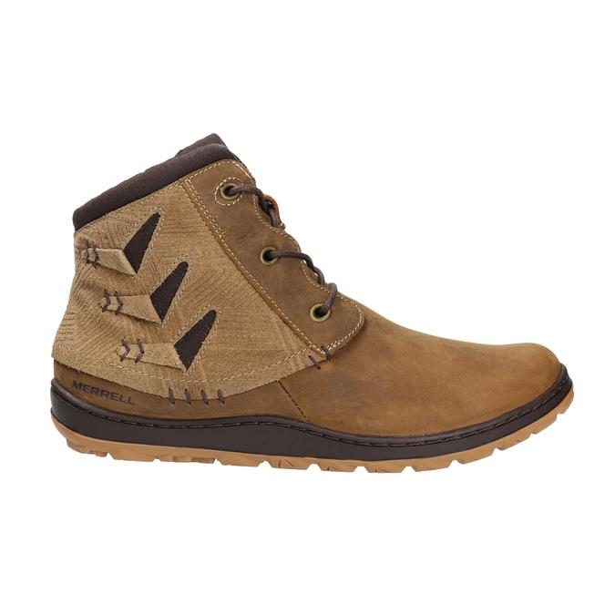 Kožená kotníčková obuv dámská merrell, hnědá, 506-3809 - 15