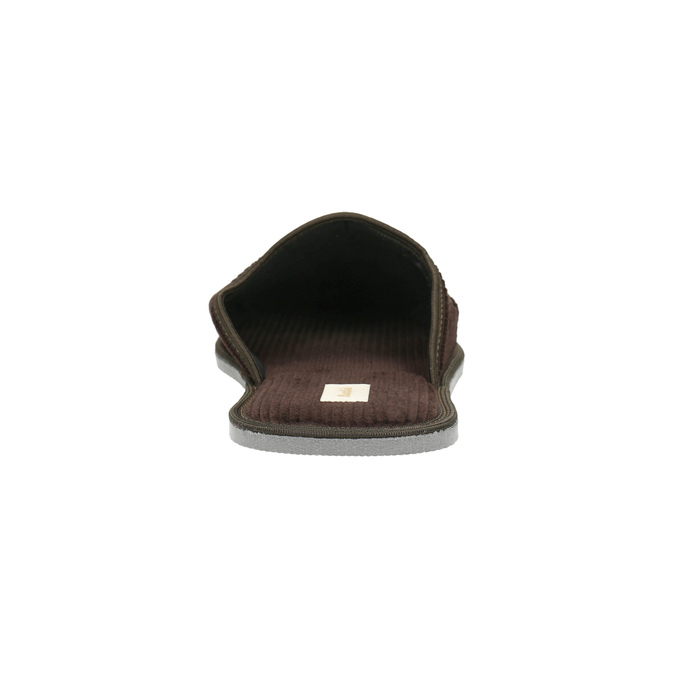 Pánská domácí obuv s plnou špicí bata, hnědá, 879-4609 - 17