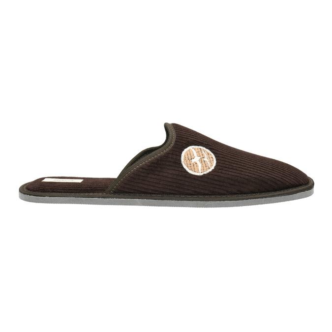 Pánská domácí obuv s plnou špicí bata, hnědá, 879-4609 - 15
