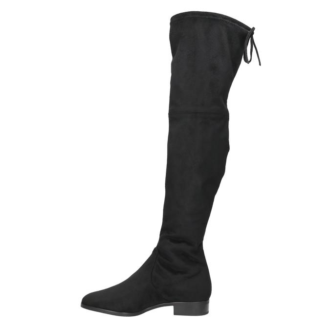 Kožené kozačky nad kolena hogl, černá, 693-6001 - 19