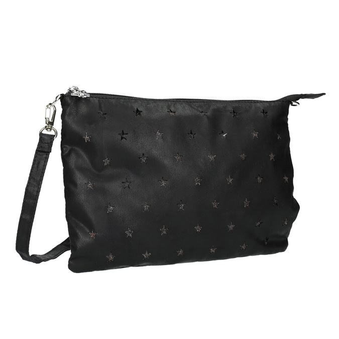 Černé dámské psaníčko bata, černá, 969-6631 - 13