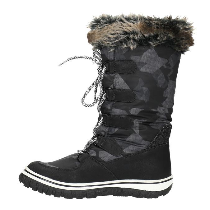 Dámské sněhule s kožíškem bata, černá, 599-6609 - 19