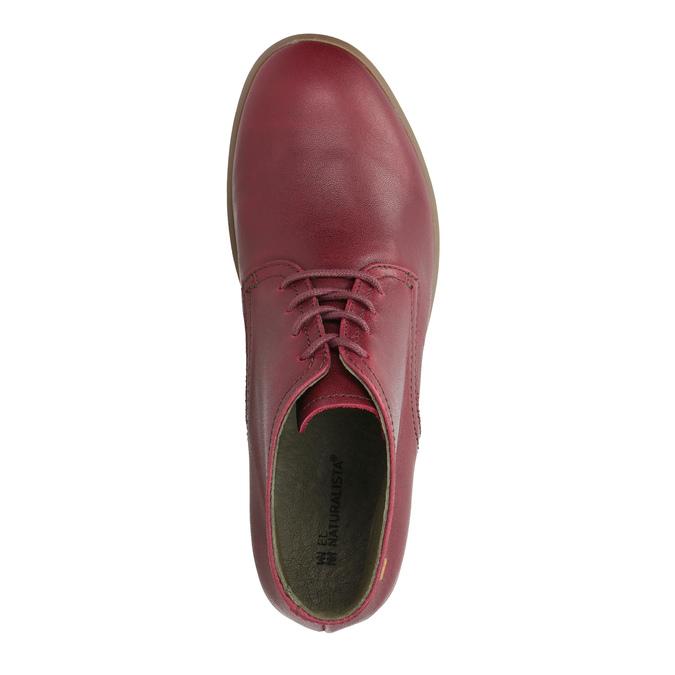 Kožená dámská obuv ke kotníkům el-naturalista, červená, 624-5043 - 19