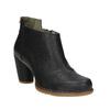 Kotníčková obuv na stabilním podpatku el-naturalista, černá, 714-6043 - 13