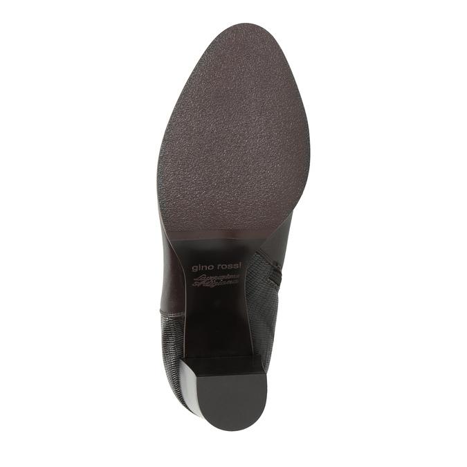 Kožená kotníčková obuv na podpatku gino-rossi, hnědá, 714-4010 - 26