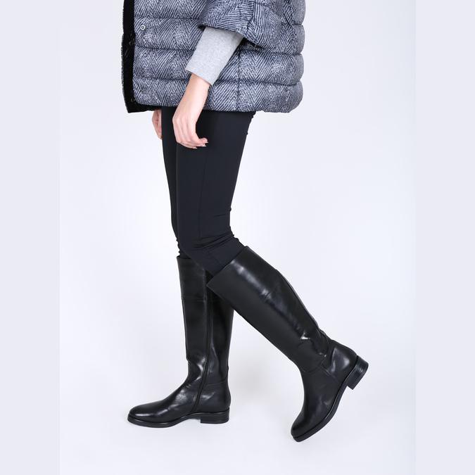 Kožené dámské kozačky bata, černá, 594-6606 - 18