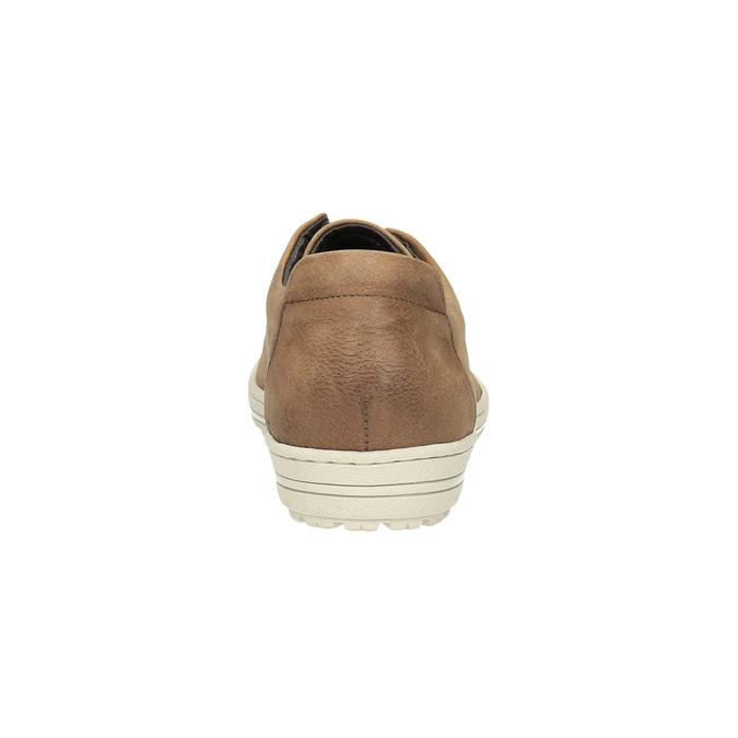 Dámské kožené tenisky bata, hnědá, 524-8349 - 17