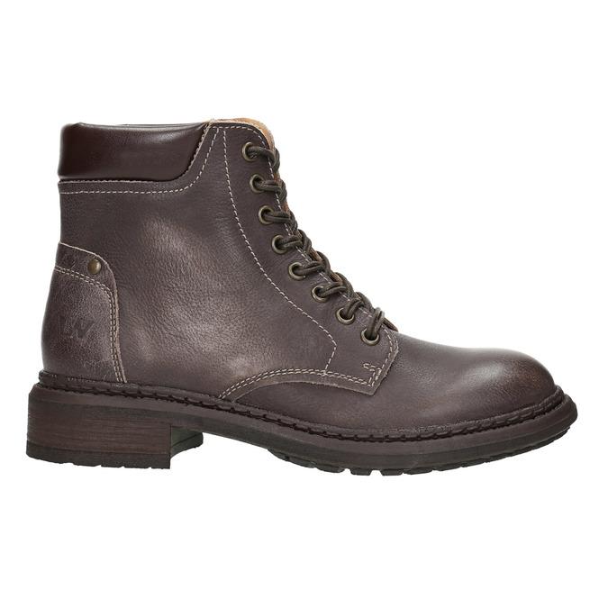 Dámská kožená kotníčková obuv weinbrenner, hnědá, 596-4632 - 15