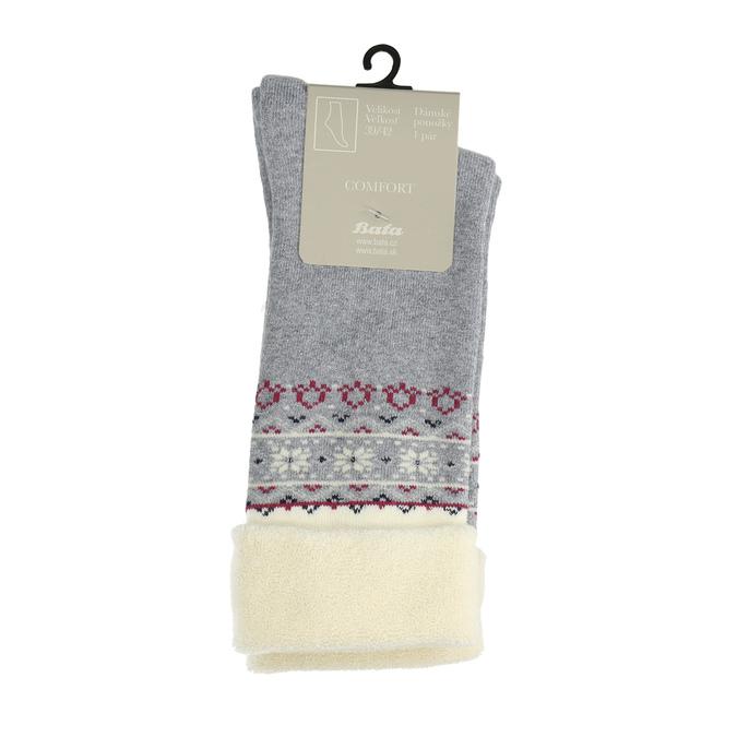 Teplé dámské ponožky bata, šedá, 919-2418 - 13