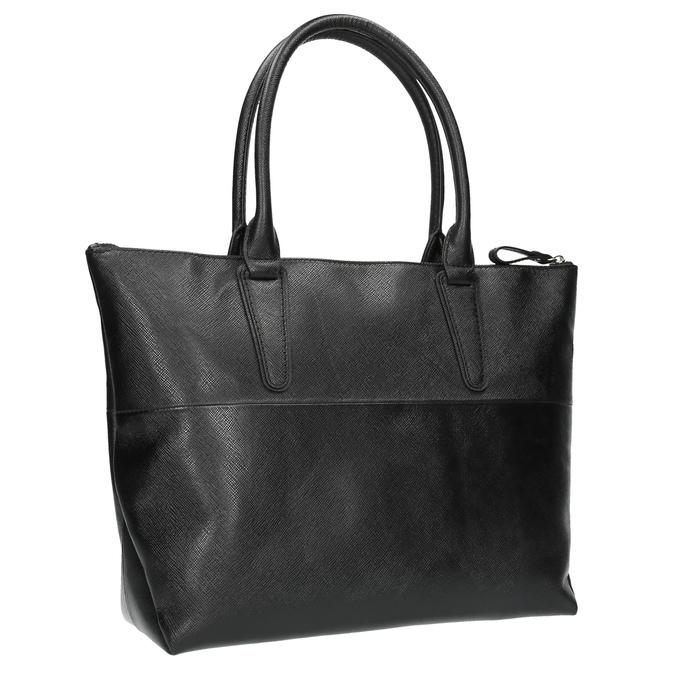 Černá kožená kabelka bata, černá, 966-6201 - 13