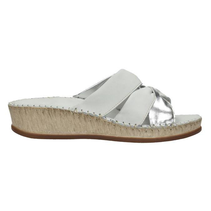 Dámské kožené sandály comfit, bílá, 574-1248 - 15