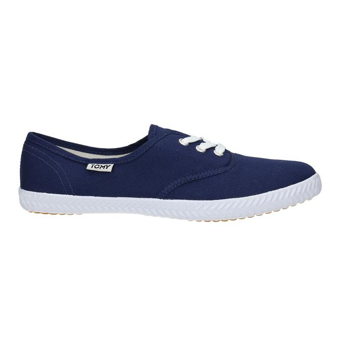 Modré textilní tenisky tomy-takkies, modrá, 519-9691 - 15