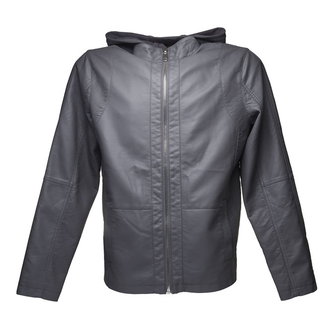 Pánská bunda s kapucí bata, šedá, 971-2161 - 13