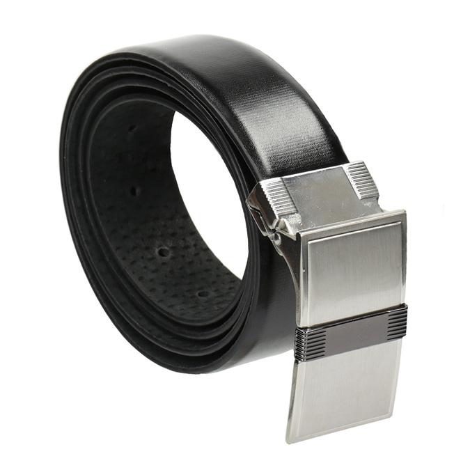 Pánský opasek s hranatou sponou bata, černá, 954-6140 - 13