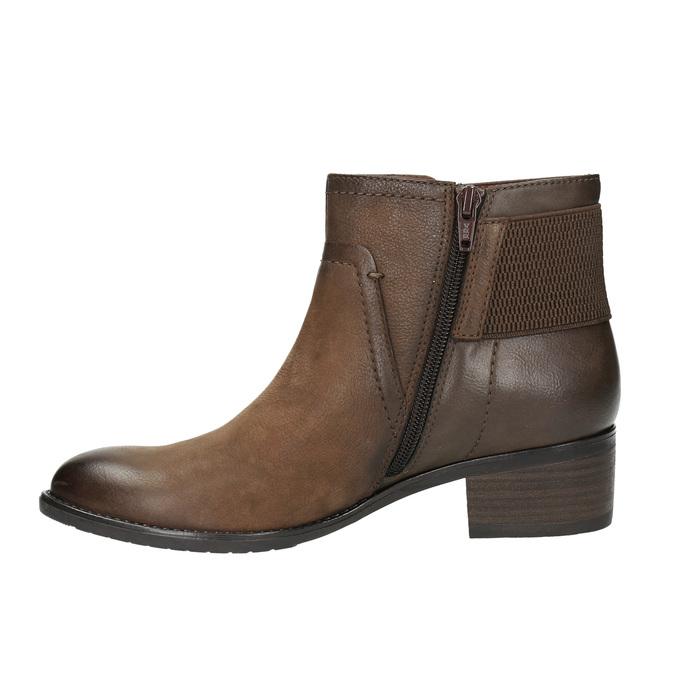 Dámská kotníčková obuv bata, hnědá, 696-4605 - 26