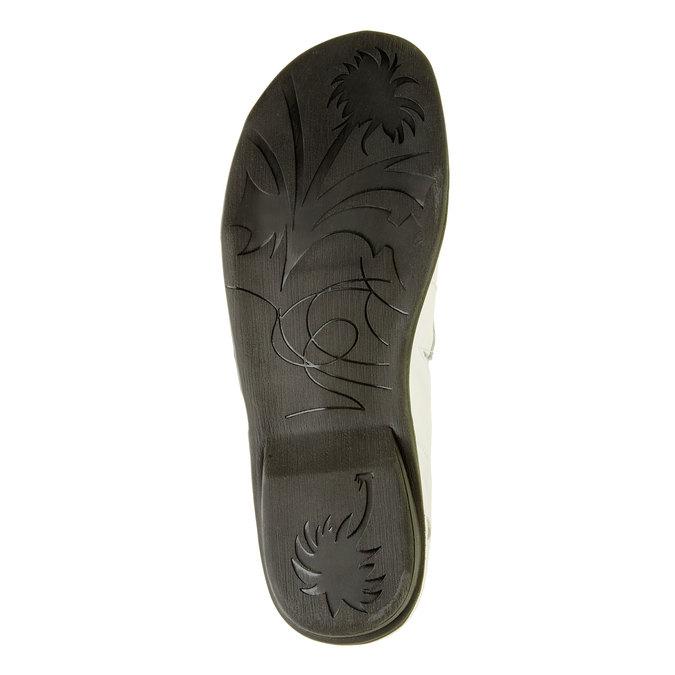 Dámská kožená obuv bata, bílá, 556-1100 - 26