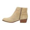 Dámská kotníčková obuv z broušené kůže bata, béžová, 693-1600 - 26