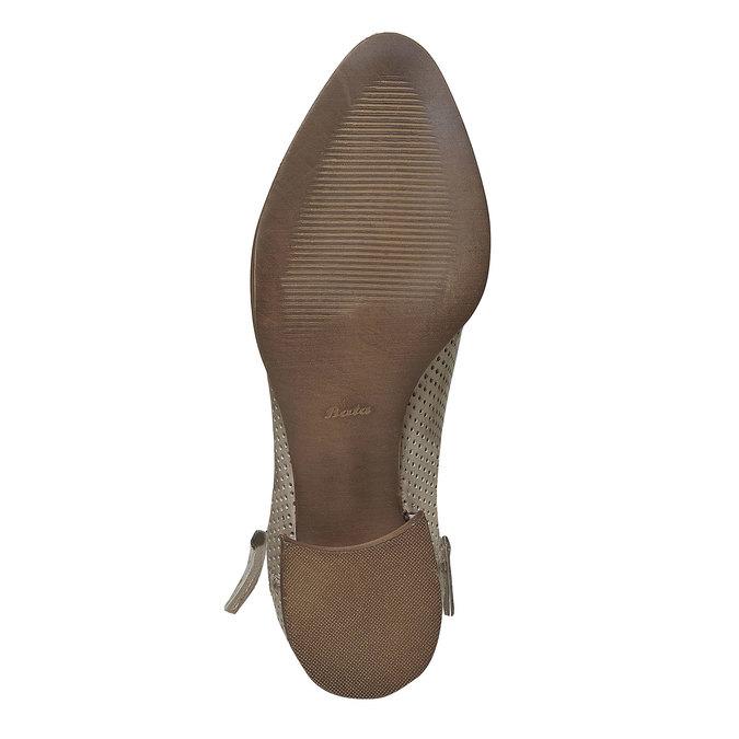 Kožené kotníčkové kozačky bata, béžová, 594-2400 - 26
