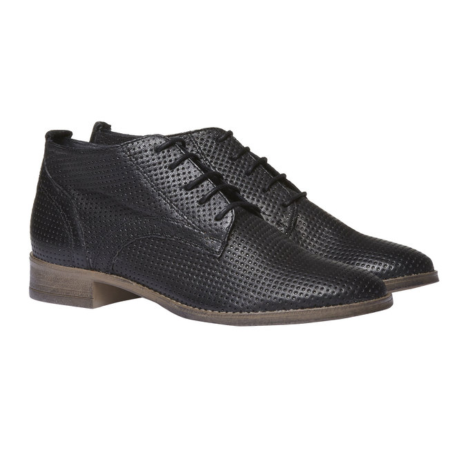 Dámské kožené kotníčkové boty bata, černá, 524-6468 - 26