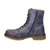 Kožená kotníčková obuv s květinovým motivem bata, modrá, 596-9609 - 26