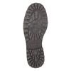 Kožené polobotky s prošitím na špici bata, černá, 826-6640 - 26