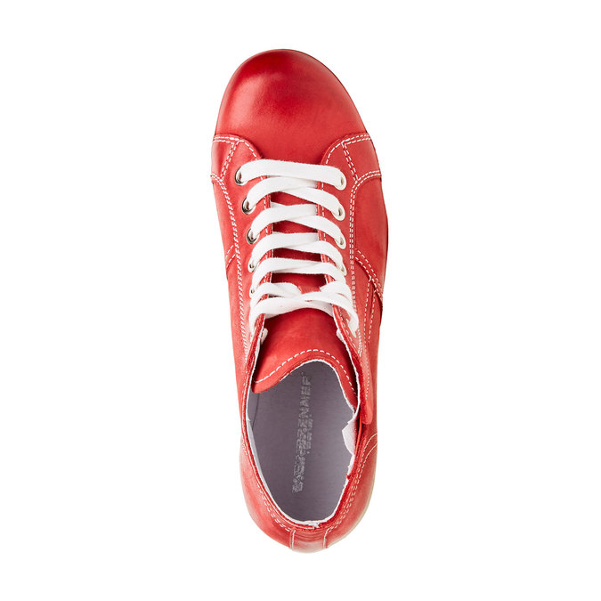 Kožené kotníčkové tenisky bata, červená, 524-5310 - 19