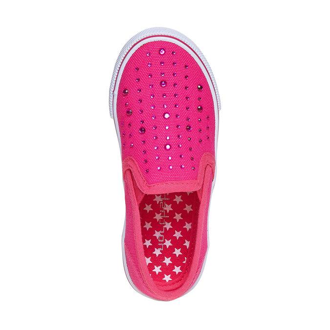 Růžové Slip on boty s kamínky mini-b, růžová, 2019-229-5148 - 19