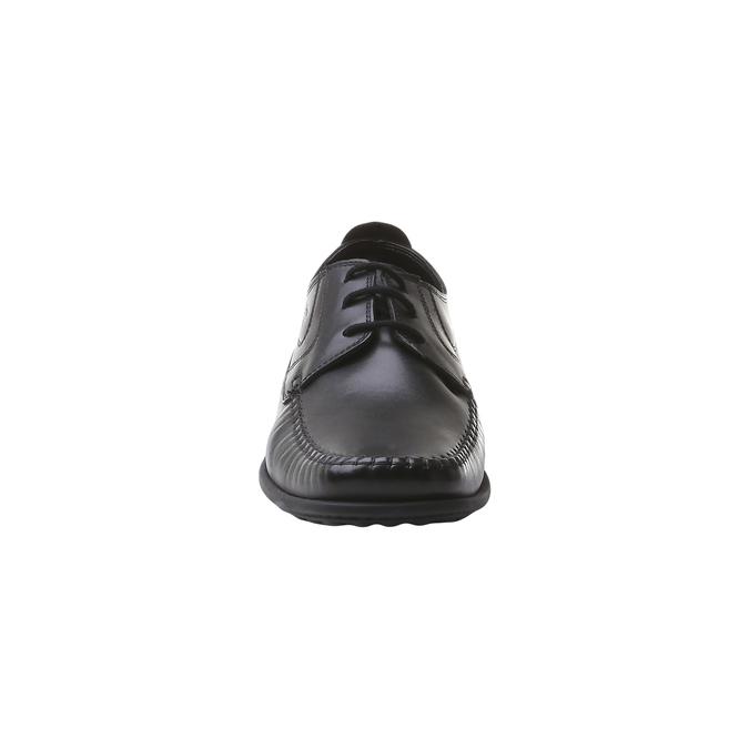 Pánské kožené polobotky bata-comfit, černá, 854-6836 - 16