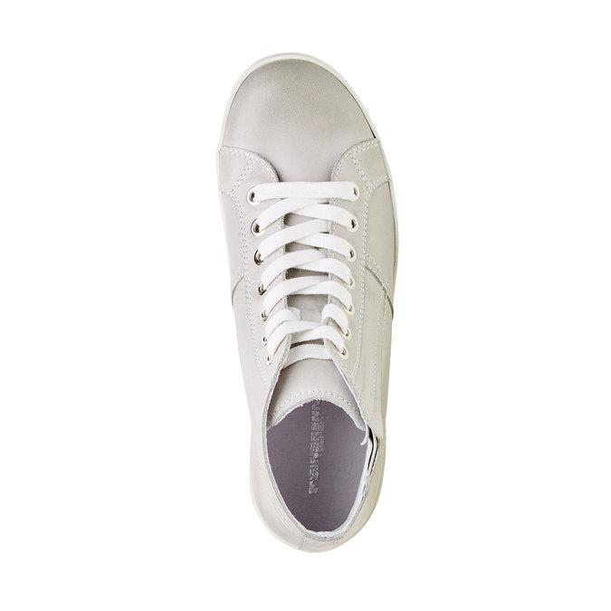 Kožené kotníčkové tenisky bata, bílá, 524-1310 - 19