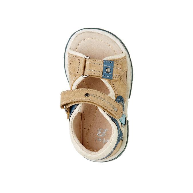Dětské sandály mini-b, hnědá, 161-3100 - 19