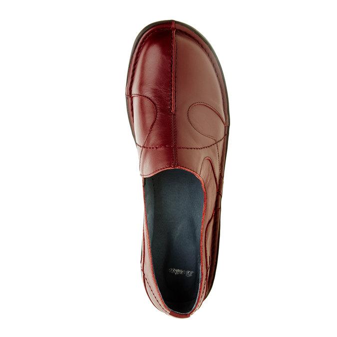 Dámská kožená obuv bata, červená, 556-5100 - 19