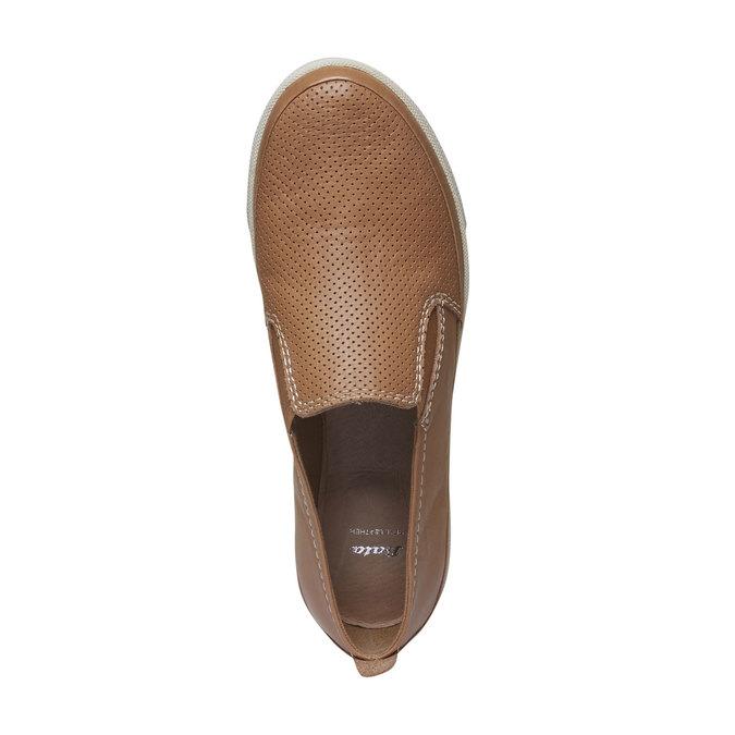 Kožené Plim Soll boty s perforací bata, hnědá, 514-3197 - 19