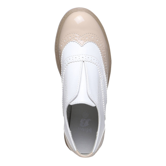 Dětské polobotky ve stylu Spectator shoes mini-b, béžová, 321-5178 - 19