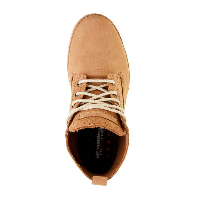 Kožené kotníčkové boty weinbrenner, hnědá, 594-3531 - 19