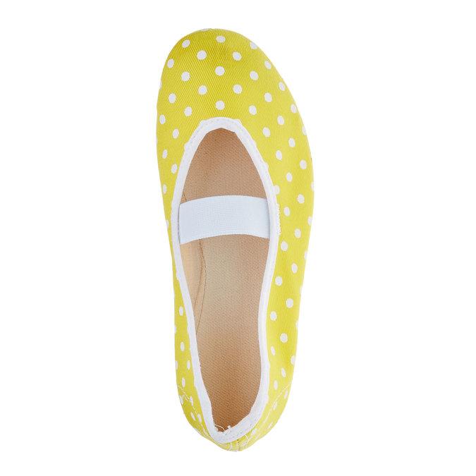 Cvičky s puntíky bata, žlutá, 379-8103 - 19