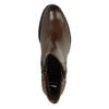 Kožené kotníčkové kozačky se zipy bata, hnědá, 694-4600 - 19