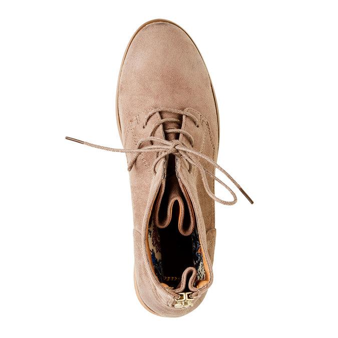 Kotníčkové boty se zipem bata, béžová, 599-2493 - 19