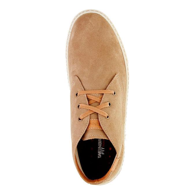 Pánská kožená obuv weinbrenner, hnědá, 843-8661 - 19