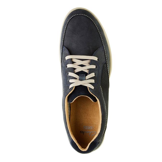 Pánská obuv z broušené kůže clarks, modrá, 826-9006 - 19