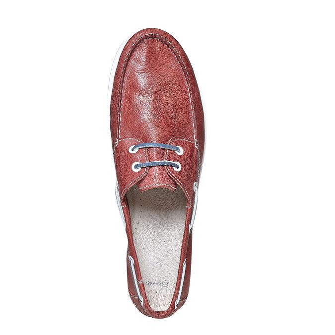 Pánské kožené mokasíny bata, červená, 854-5188 - 19