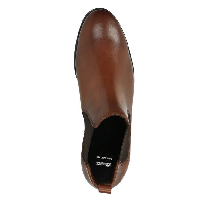 Kožené hnědé Chelsea Boots bata, hnědá, 594-4604 - 19