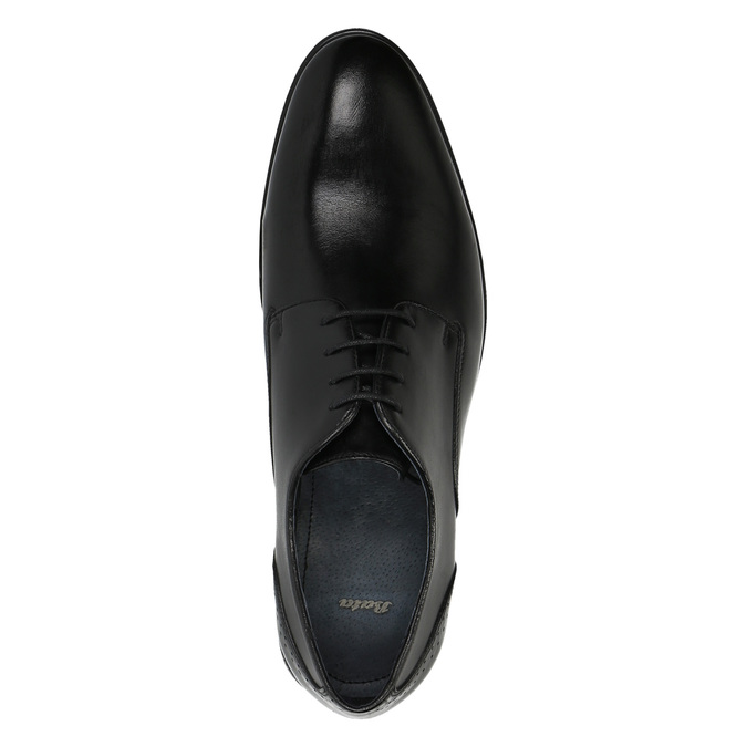 Pánské kožené polobotky bata, černá, 824-6705 - 19
