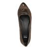 Kožené lodičky na klínovém podpatku bata, hnědá, 626-4603 - 19