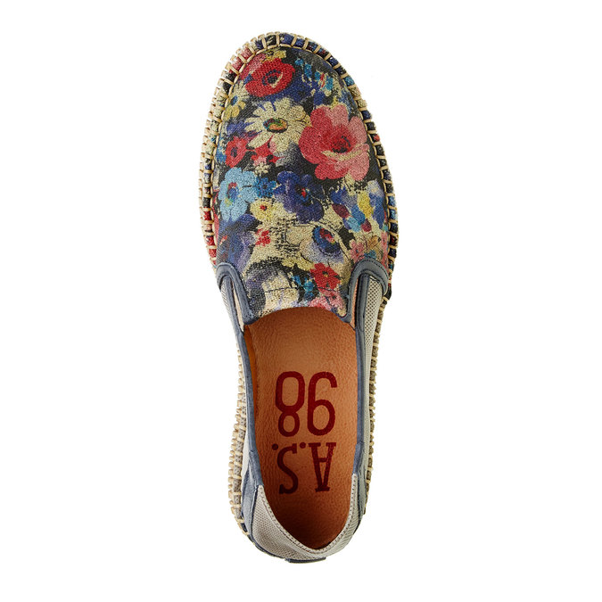 Pánská obuv Slip on s květinovým vzorem a-s-98, béžová, 2019-816-9003 - 19