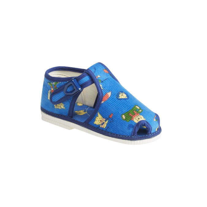 Dětská domácí obuv ke kotníkům bata, modrá, 179-9210 - 13