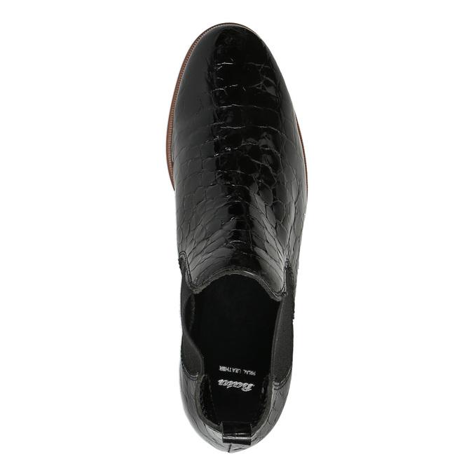Kožené Chelsea boots bata, černá, 598-6600 - 19