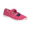 Dětská domácí obuv s páskem přes nárt mini-b, růžová, 379-5209 - 13